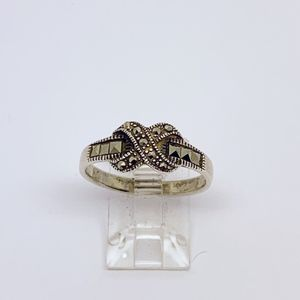 sterling silver marcasite ring #3
